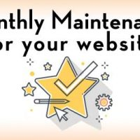 Icons for wordpress monthly maintenace